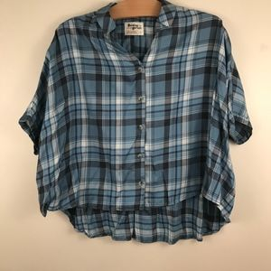 ANTHROPOLOGIE HOLDING HORSES Plaid Halsey Shirt